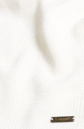 Детский шерстяной шарф IL TRENINO белого цвета, арт. 18 1121/E0 | Фото 2