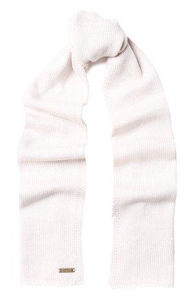 Детский шерстяной шарф IL TRENINO бежевого цвета, арт. 18 1121/E0 | Фото 1