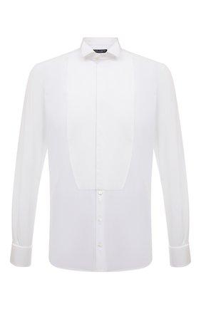 Мужская хлопковая сорочка под смокинг  DOLCE & GABBANA белого цвета, арт. G5EN3T/FU5K9 | Фото 1