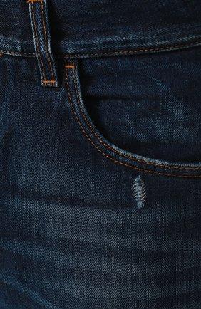 Мужские джинсы прямого кроя с потертостями DOLCE & GABBANA темно-синего цвета, арт. GY40CD/G8AB3 | Фото 5