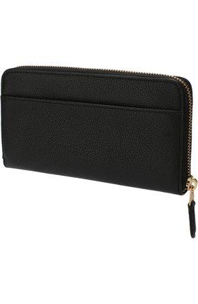 Кожаное портмоне на молнии Coach черного цвета | Фото №1