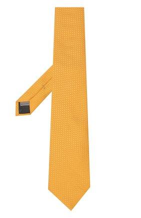 Шелковый галстук Canali желтого цвета | Фото №1
