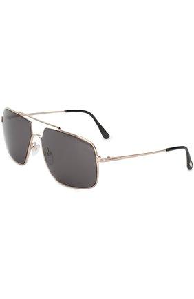 Мужские солнцезащитные очки TOM FORD золотого цвета, арт. TF585 | Фото 1