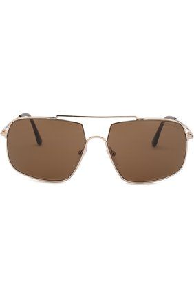 Мужские солнцезащитные очки TOM FORD золотого цвета, арт. TF585 | Фото 2