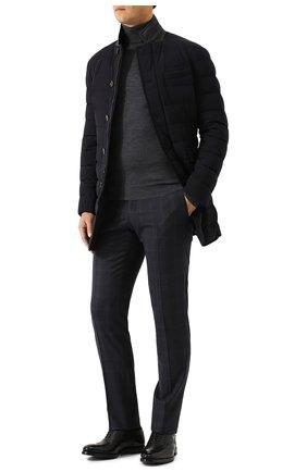 Мужской шерстяная водолазка JOHN SMEDLEY темно-серого цвета, арт. CHERWELL | Фото 2