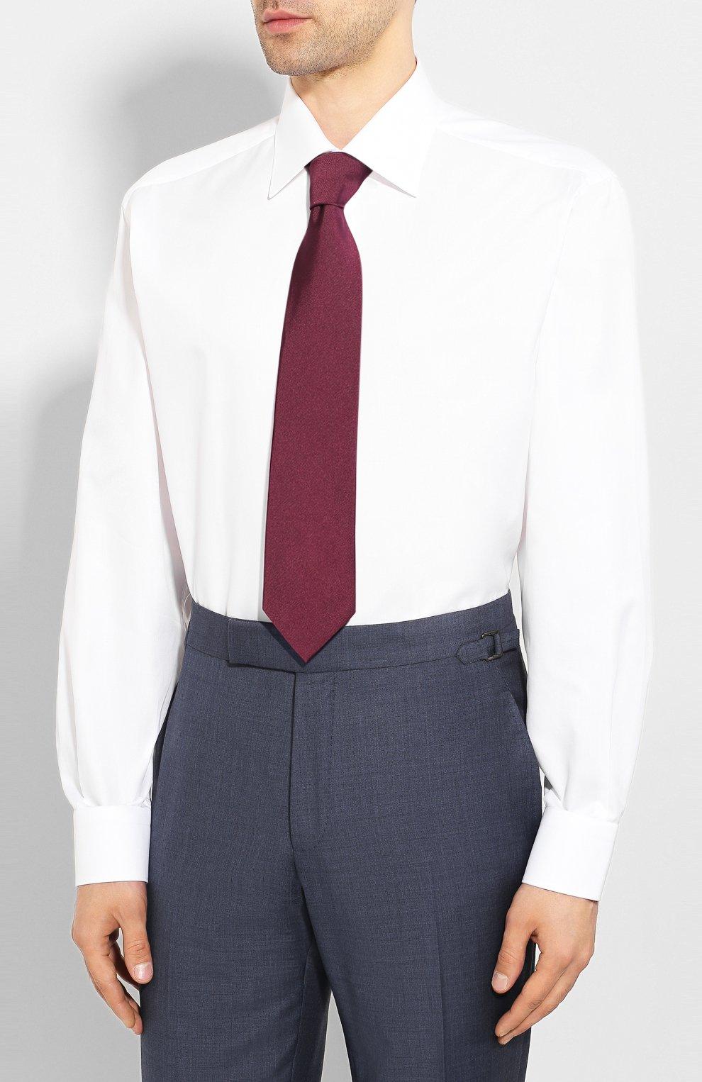 Мужская хлопковая сорочка BRIONI белого цвета, арт. RCL42G/PZ023 | Фото 4