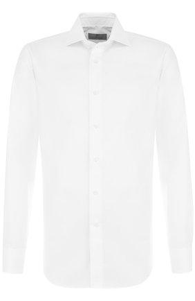 Мужская хлопковая сорочка CANALI белого цвета, арт. 758/GA00327/S | Фото 1