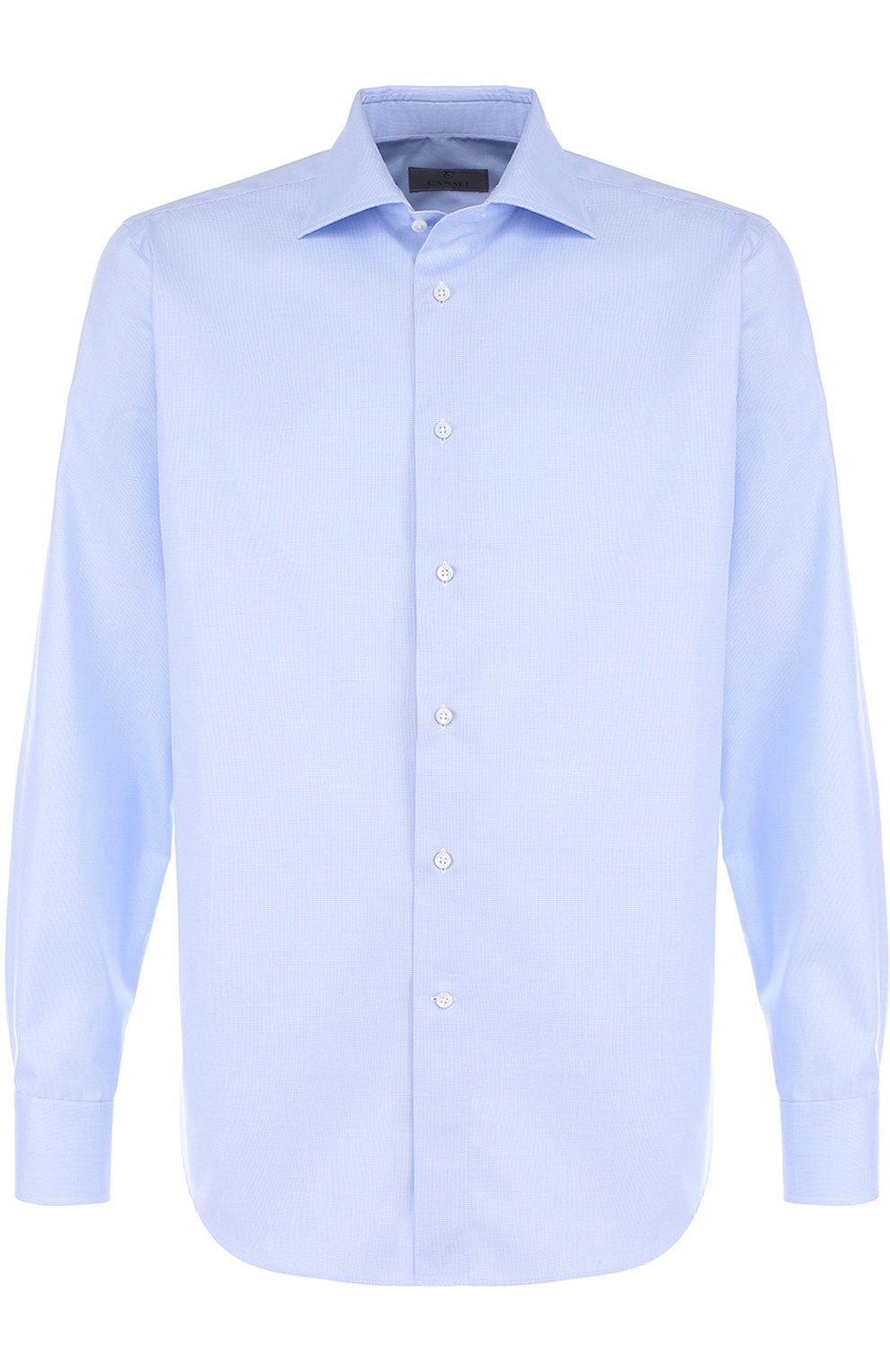 Мужская хлопковая сорочка CANALI голубого цвета, арт. 758/GA00327/S | Фото 1