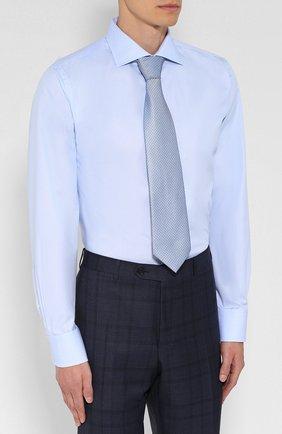 Мужская хлопковая сорочка CANALI голубого цвета, арт. 758/GA00327/S | Фото 4