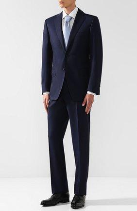 Мужской шерстяной костюм с пиджаком на двух пуговицах CORNELIANI темно-синего цвета, арт. 827315-8818150/92 Q1 | Фото 1