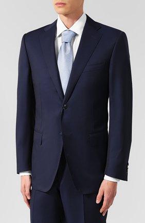 Мужской шерстяной костюм с пиджаком на двух пуговицах CORNELIANI темно-синего цвета, арт. 827315-8818150/92 Q1 | Фото 2