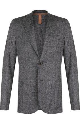 Мужской шерстяной однобортный пиджак на двух пуговицах ELEVENTY UOMO серого цвета, арт. 979JA3001 JAC26091 | Фото 1