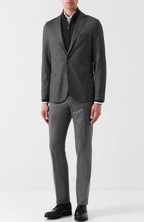 Мужской шерстяной однобортный пиджак на двух пуговицах ELEVENTY UOMO серого цвета, арт. 979JA3001 JAC26091 | Фото 2