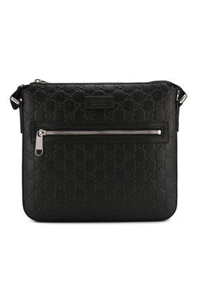 Кожаная сумка-планшет с тиснением Signature | Фото №1