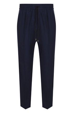 Шерстяные укороченные брюки с поясом на резинке | Фото №1