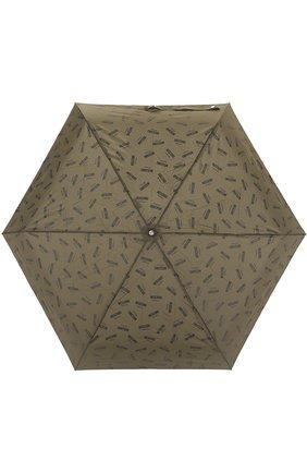 Складной зонт с принтом Moschino темно-зеленый | Фото №1