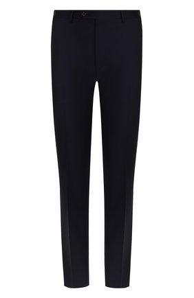 Мужской шерстяные брюки прямого кроя CORNELIANI темно-синего цвета, арт. 825263-8818150/02   Фото 1