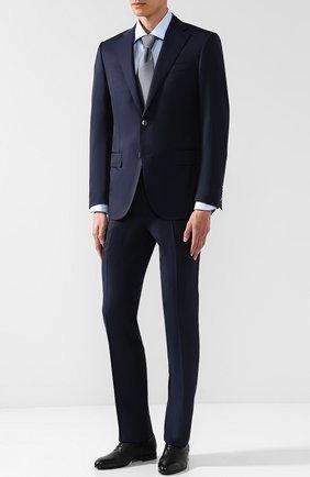 Мужской шерстяной костюм с пиджаком на двух пуговицах CORNELIANI темно-синего цвета, арт. 827268-8818150/92 Q1   Фото 1