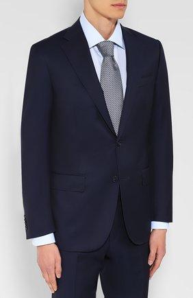 Мужской шерстяной костюм с пиджаком на двух пуговицах CORNELIANI темно-синего цвета, арт. 827268-8818150/92 Q1   Фото 2