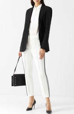 Укороченные брюки с лампасами Escada Sport белые | Фото №1
