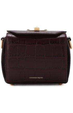 Сумка Box 16 Alexander McQueen фиолетовая цвета   Фото №1