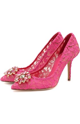 Кружевные туфли Rainbow Lace с брошью | Фото №1