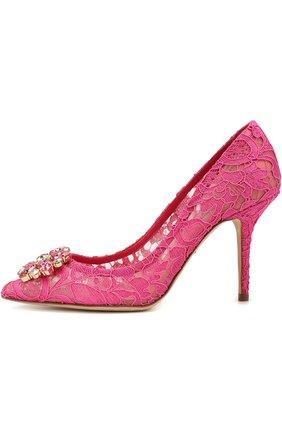 Кружевные туфли Rainbow Lace с брошью | Фото №3