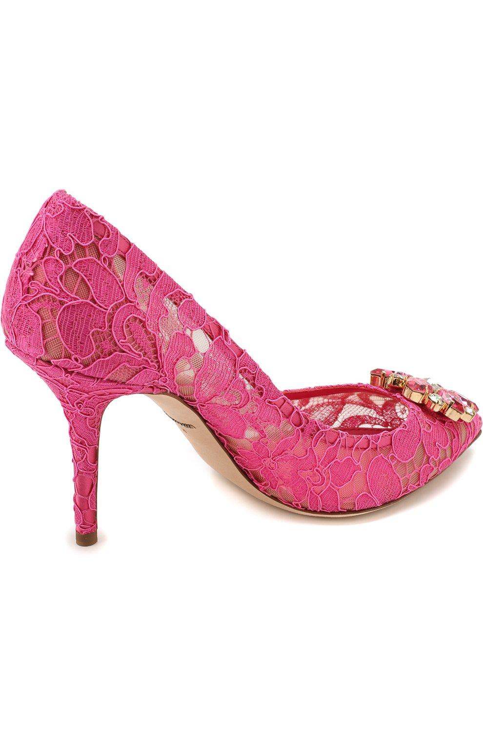 Кружевные туфли Rainbow Lace с брошью | Фото №4