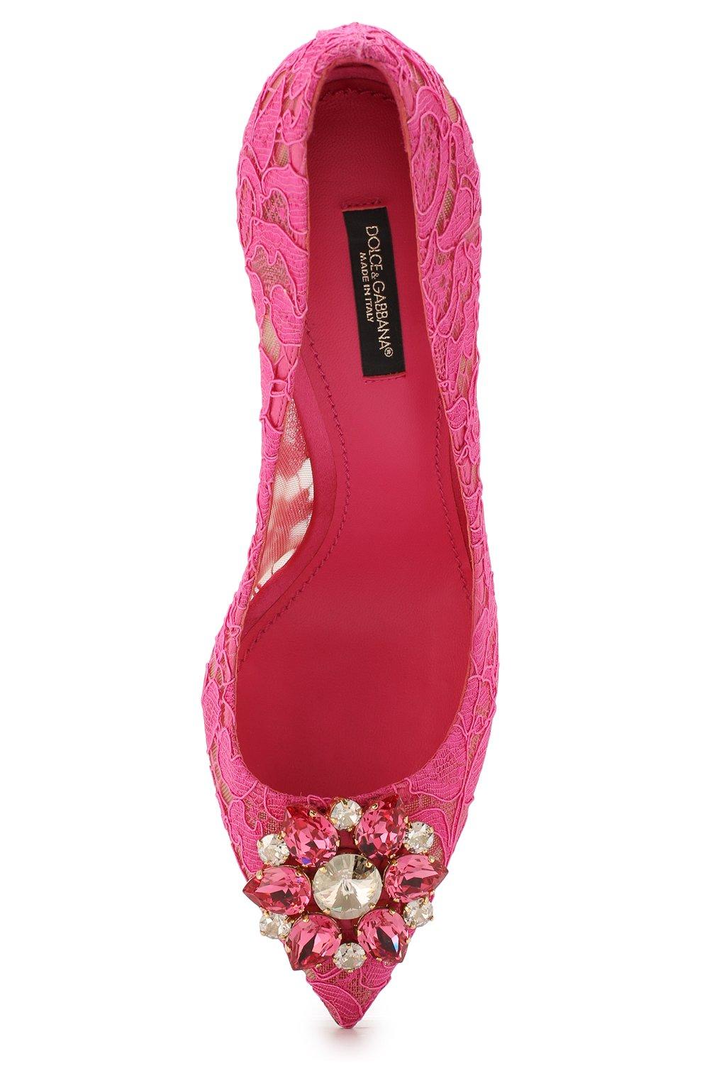Кружевные туфли Rainbow Lace с брошью | Фото №5