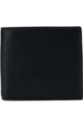 Кожаное портмоне с отделением для кредитных карт и монет Smythson темно-синего цвета | Фото №1
