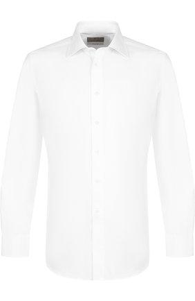 Мужская хлопковая сорочка с воротником кент CANALI белого цвета, арт. N705/GD00392/S/L | Фото 1