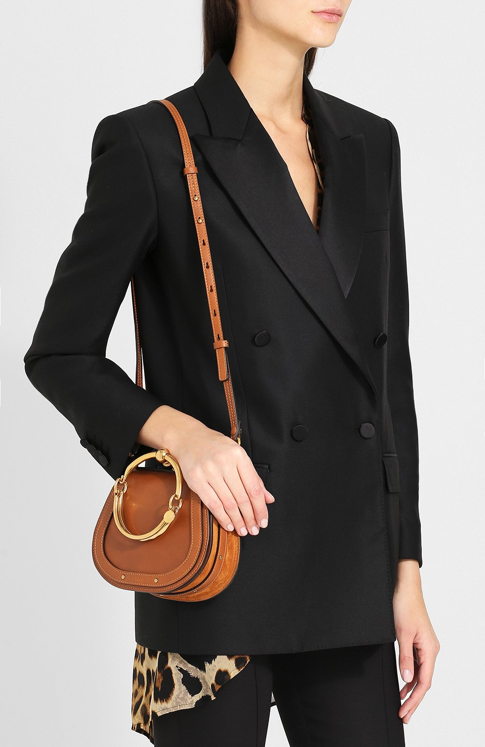Женская сумка nile small CHLOÉ светло-коричневого цвета, арт. CHC17US301HEU | Фото 5