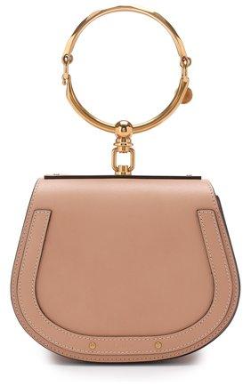 Женская сумка nile small CHLOÉ светло-бежевого цвета, арт. CHC17US301HEU | Фото 1