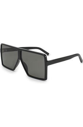 Женские солнцезащитные очки SAINT LAURENT черного цвета, арт. SL 183 BETTY S 001   Фото 1