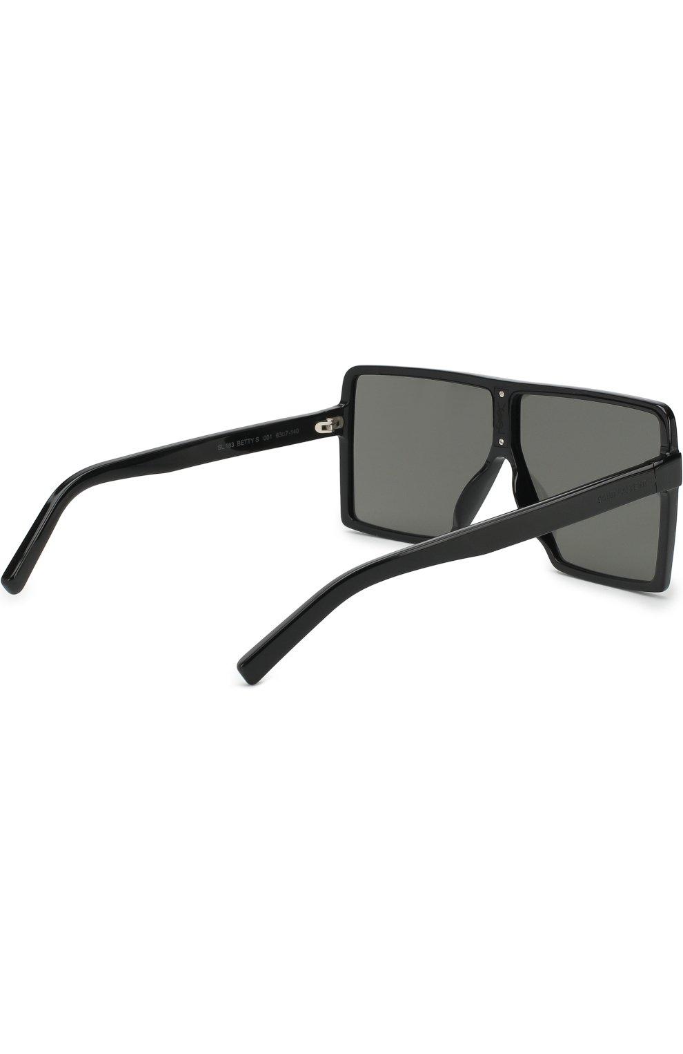 Женские солнцезащитные очки SAINT LAURENT черного цвета, арт. SL 183 BETTY S 001   Фото 3