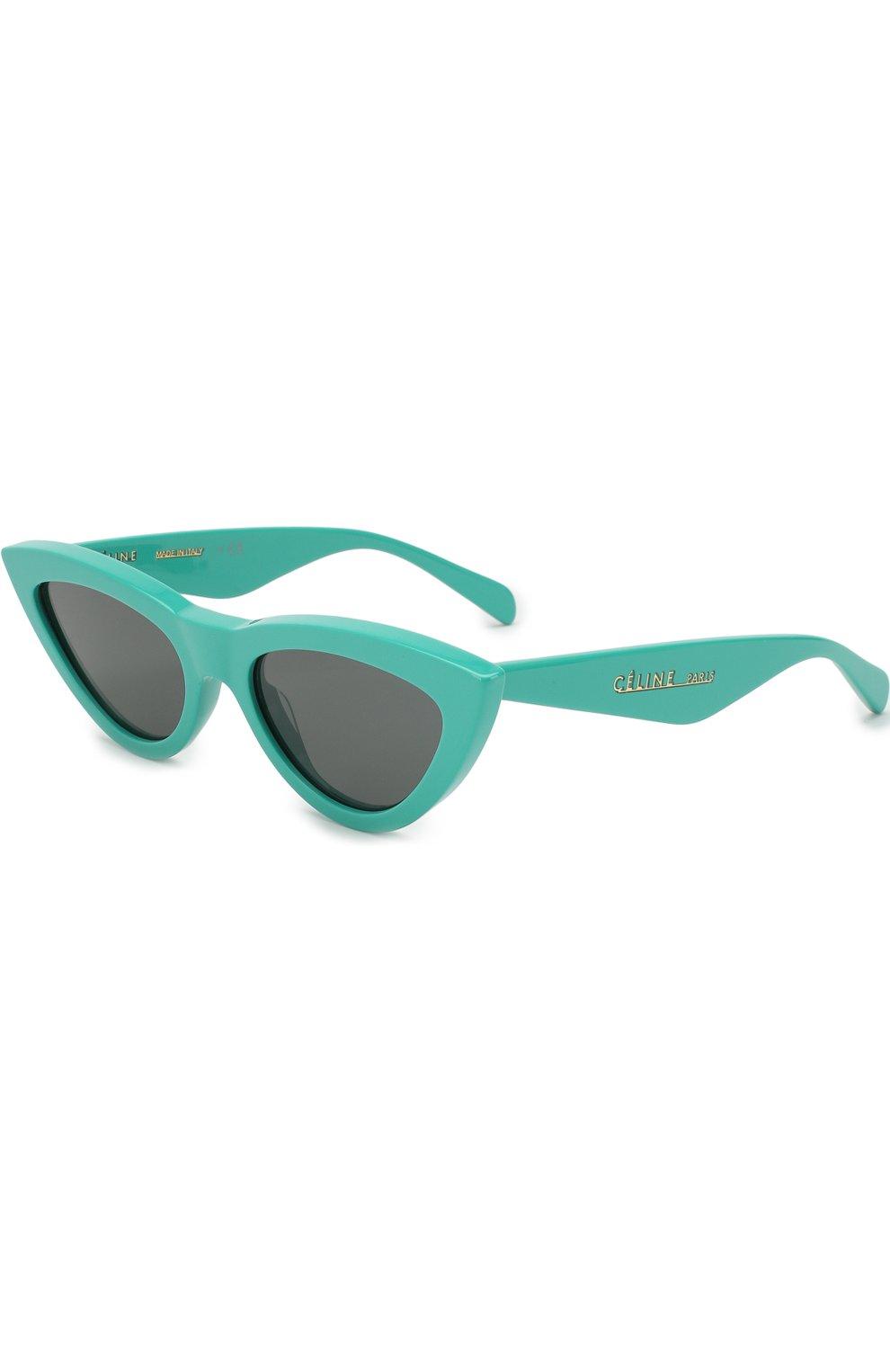 Женские солнцезащитные очки CELINE EYEWEAR бирюзового цвета, арт. CL40019I 87N | Фото 1