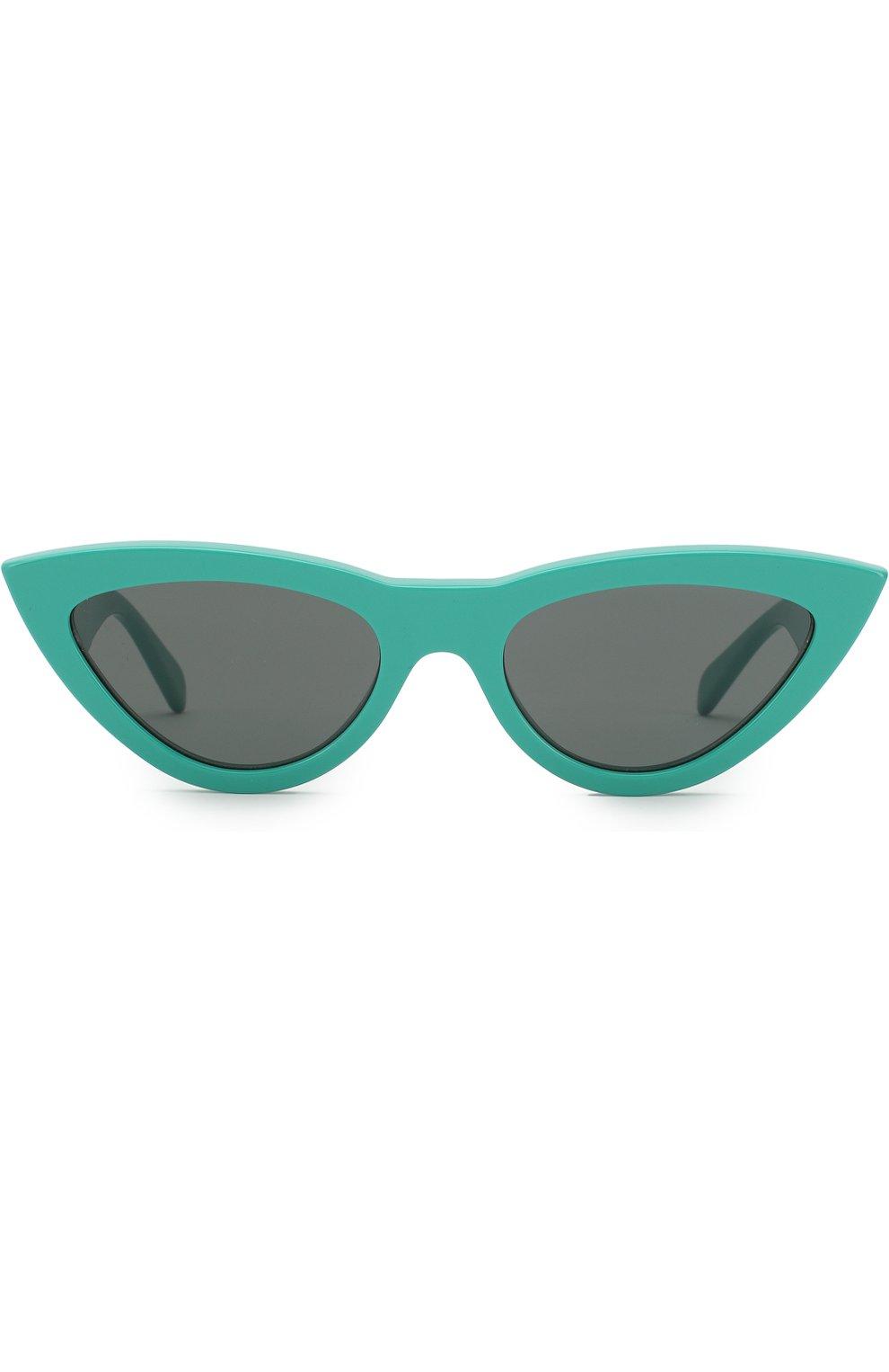 Женские солнцезащитные очки CELINE EYEWEAR бирюзового цвета, арт. CL40019I 87N | Фото 2