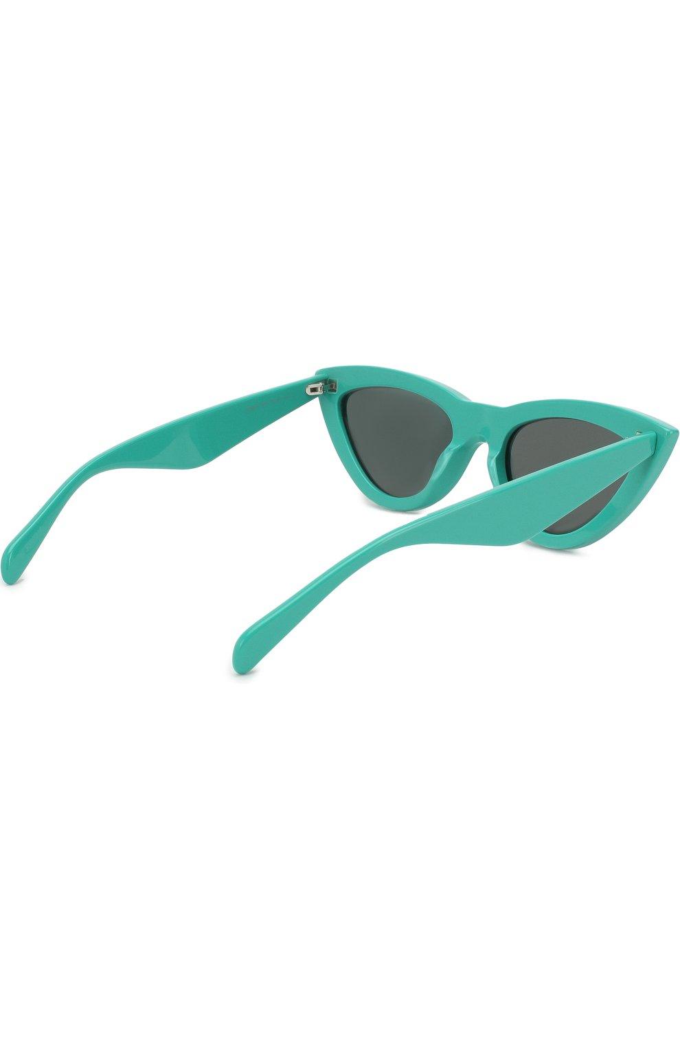 Женские солнцезащитные очки CELINE EYEWEAR бирюзового цвета, арт. CL40019I 87N | Фото 3