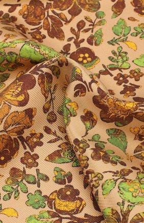 Шелковый платок с цветочным принтом | Фото №2
