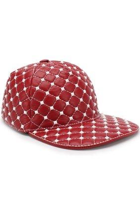 Кожаная кепка Valentino Garavani Rockstud Spike Free | Фото №1