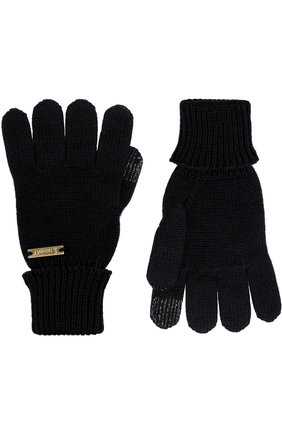 Детские перчатки из шерсти IL TRENINO черного цвета, арт. 18 9004/E0 | Фото 2