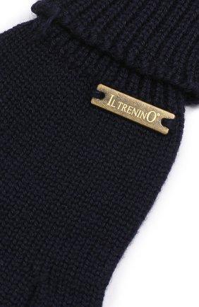 Детские перчатки из шерсти IL TRENINO темно-синего цвета, арт. 18 9004/E0   Фото 3
