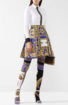 Леггинсы с ярким принтом Versace разноцветные | Фото №1
