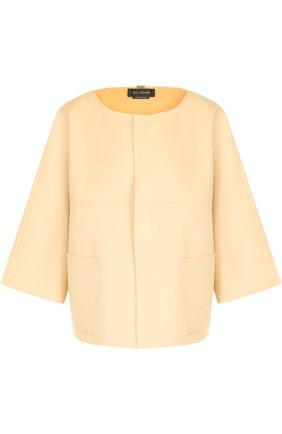 Жакет из смеси шерсти и кашемира с накладными карманами  St. John желтый | Фото №1