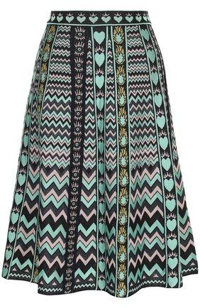 Вязаная юбка-миди с принтом M Missoni разноцветная | Фото №1