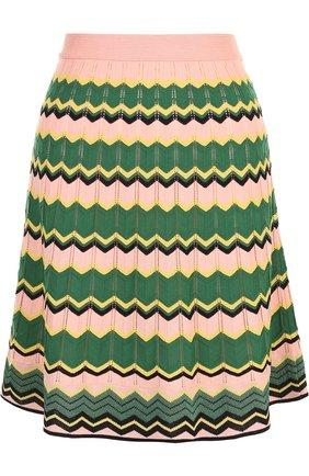 Вязаная мини-юбка с принтом M Missoni разноцветная | Фото №1
