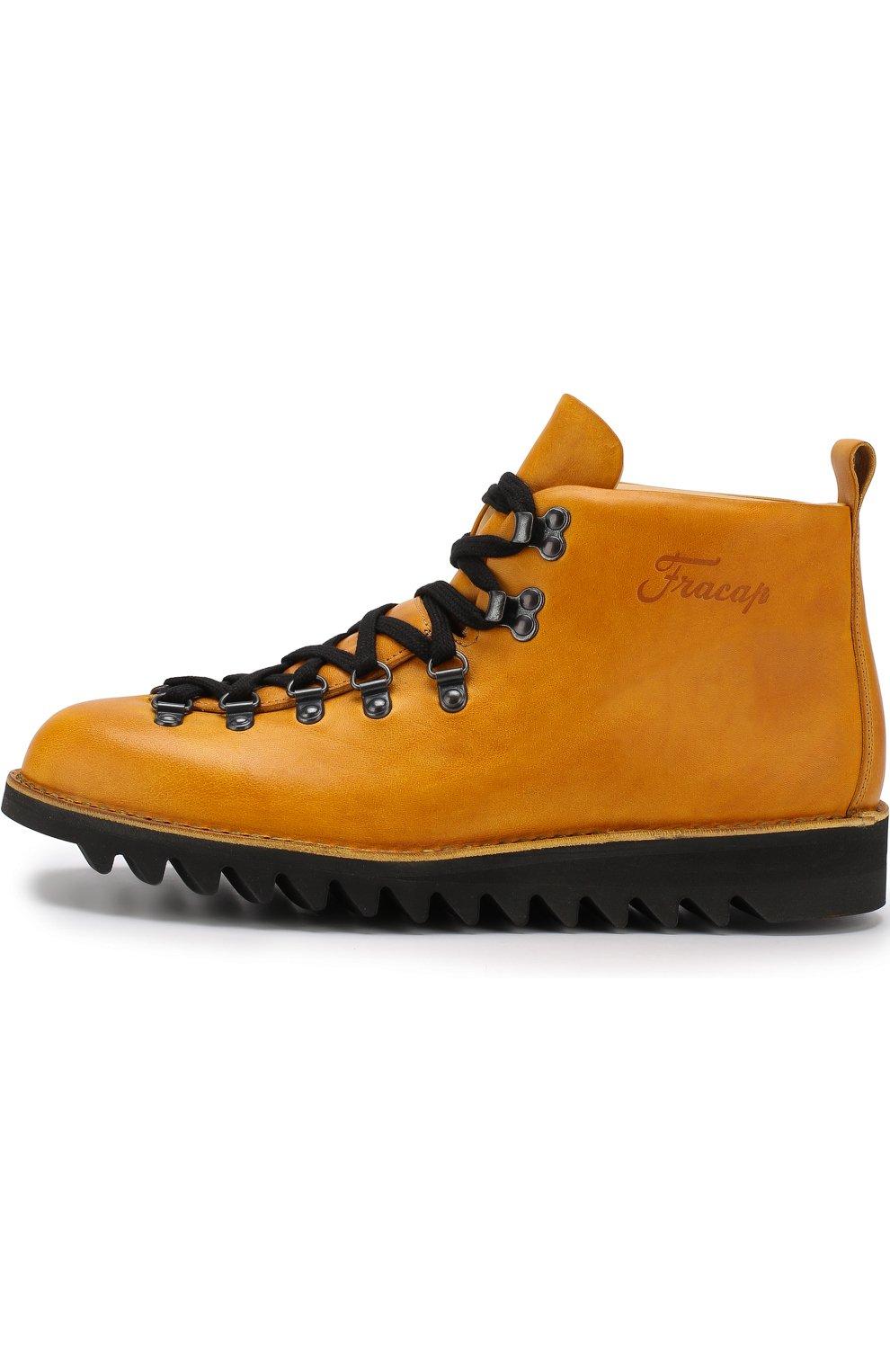 4c9b1986 Мужские желтые высокие кожаные ботинки на шнуровке m120 FRACAP ...