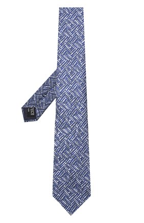 Мужской шелковый галстук с узором GIORGIO ARMANI темно-синего цвета, арт. 360054/8A800 | Фото 2