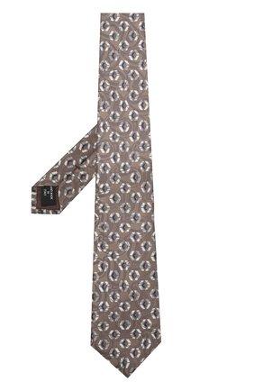 Мужской шелковый галстук с узором GIORGIO ARMANI бежевого цвета, арт. 360054/8A801   Фото 2