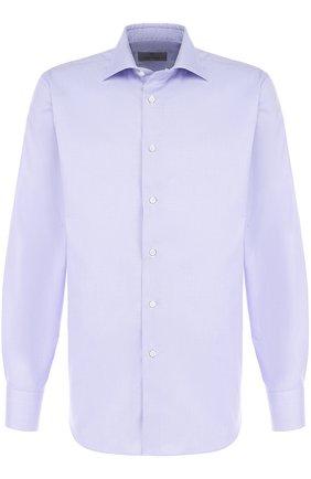 Мужская хлопковая сорочка CANALI фиолетового цвета, арт. 758/GA00327/S | Фото 1